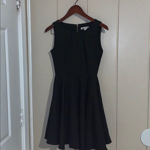Double Zero black fit and flare dress small